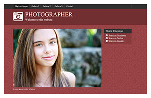 photography website example
