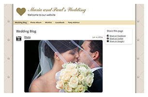 wedding website example